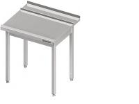 Nerezový umývací stôl k teleskopickým umývačkám riadu s dráhou na koše. Na štyroch nohách. Stôl je celozváraný. Možnosť vyrobiť nábytok na objednávku s atypickými rozmermi podľa potreby zákazníka.(250)