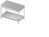 Zváraný pracovný stôl z nerezovej ocele stredový bez lemu s jednou policou. Rôzne rozmery. Stôl je celozváraný. Možnosť vyrobiť nábytok na objednávku s atypickými rozmermi podľa potreby zákazníka. 010 a 011